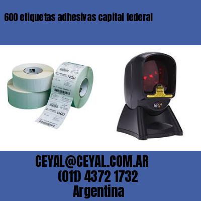 600 etiquetas adhesivas capital federal