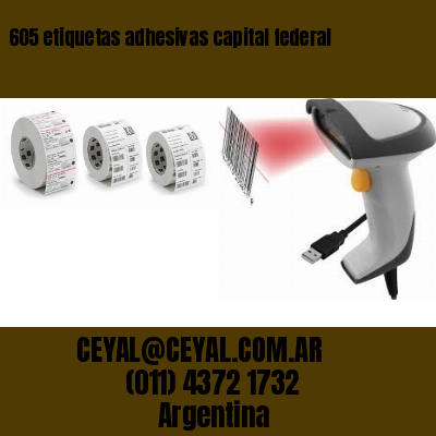 605 etiquetas adhesivas capital federal