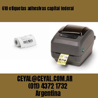 610 etiquetas adhesivas capital federal