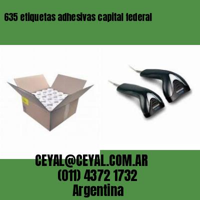 635 etiquetas adhesivas capital federal