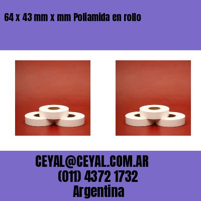 64 x 43 mm x mm Poliamida en rollo
