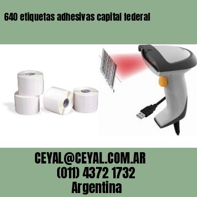 640 etiquetas adhesivas capital federal