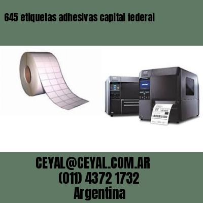 645 etiquetas adhesivas capital federal