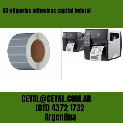 65 etiquetas adhesivas capital federal