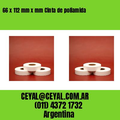 66 x 112 mm x mm Cinta de poliamida