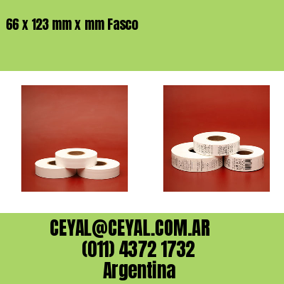66 x 123 mm x mm Fasco