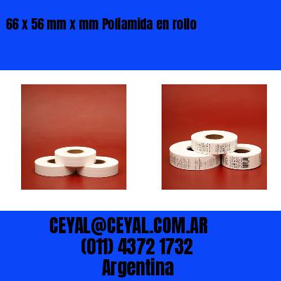 66 x 56 mm x mm Poliamida en rollo