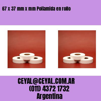 67 x 37 mm x mm Poliamida en rollo