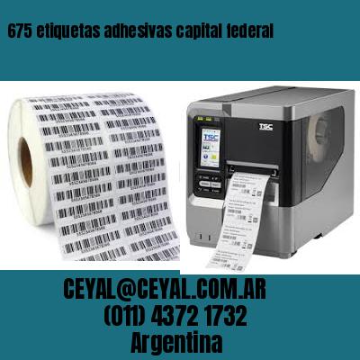 675 etiquetas adhesivas capital federal