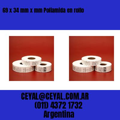 69 x 34 mm x mm Poliamida en rollo