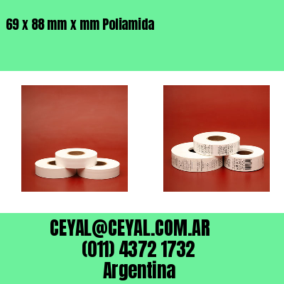69 x 88 mm x mm Poliamida