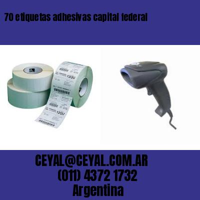70 etiquetas adhesivas capital federal