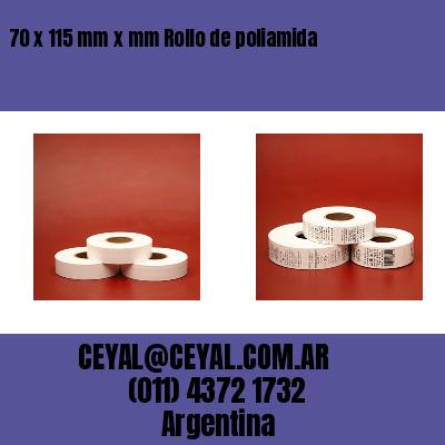 70 x 115 mm x mm Rollo de poliamida