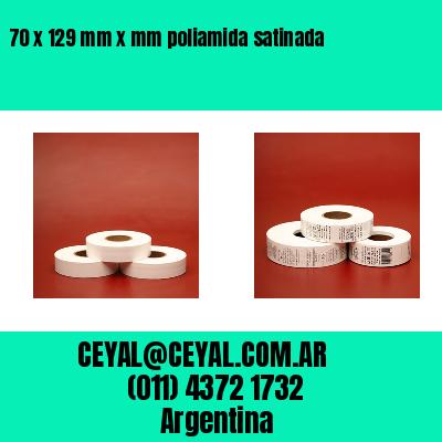 70 x 129 mm x mm poliamida satinada