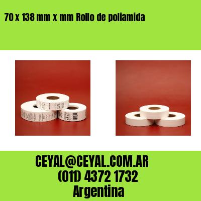 70 x 138 mm x mm Rollo de poliamida