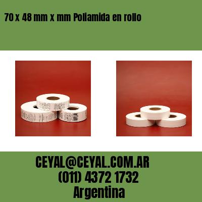 70 x 48 mm x mm Poliamida en rollo