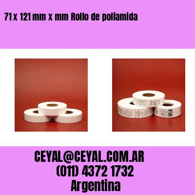 71 x 121 mm x mm Rollo de poliamida