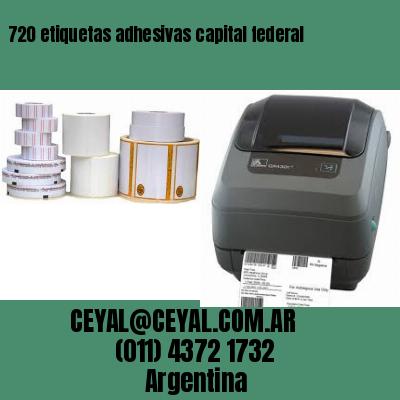 720 etiquetas adhesivas capital federal