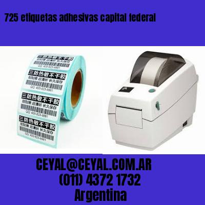 725 etiquetas adhesivas capital federal