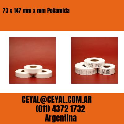 73 x 147 mm x mm Poliamida
