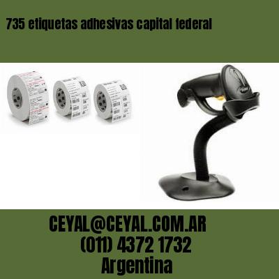 735 etiquetas adhesivas capital federal