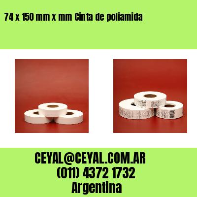 74 x 150 mm x mm Cinta de poliamida