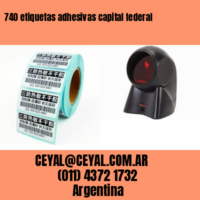 740 etiquetas adhesivas capital federal