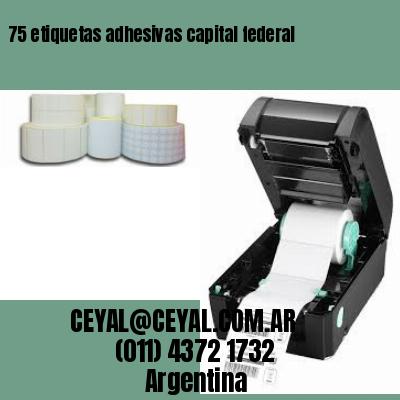 75 etiquetas adhesivas capital federal