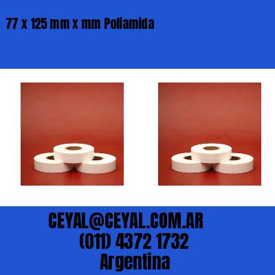 77 x 125 mm x mm Poliamida