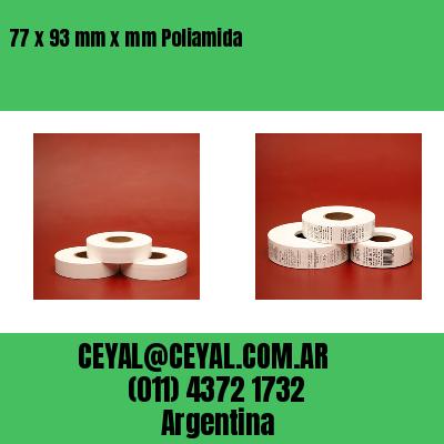 77 x 93 mm x mm Poliamida