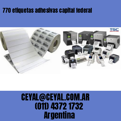 770 etiquetas adhesivas capital federal