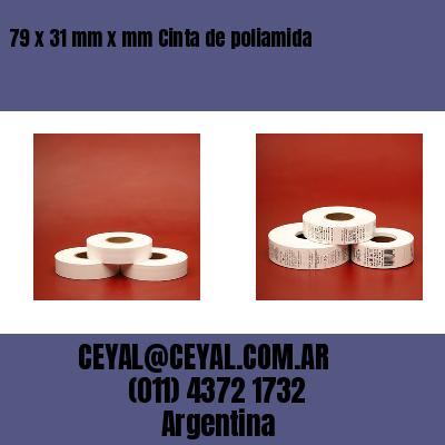 79 x 31 mm x mm Cinta de poliamida