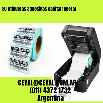 80 etiquetas adhesivas capital federal