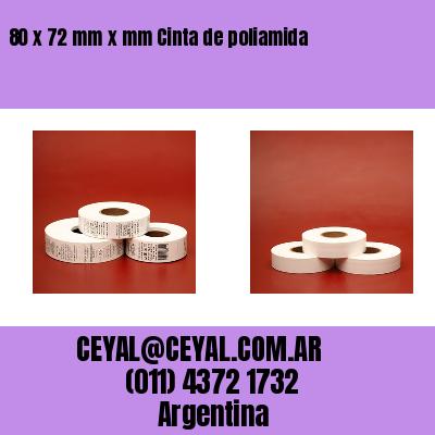 80 x 72 mm x mm Cinta de poliamida