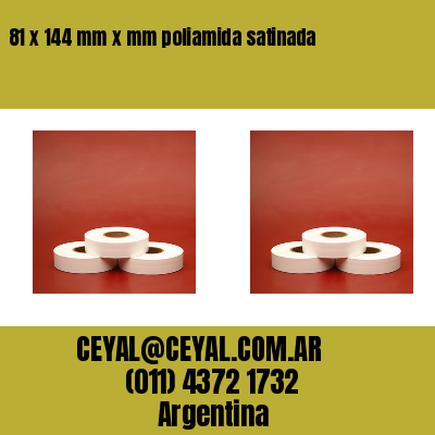 81 x 144 mm x mm poliamida satinada