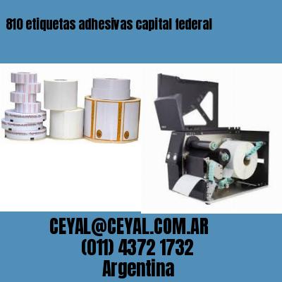 810 etiquetas adhesivas capital federal