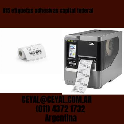 815 etiquetas adhesivas capital federal
