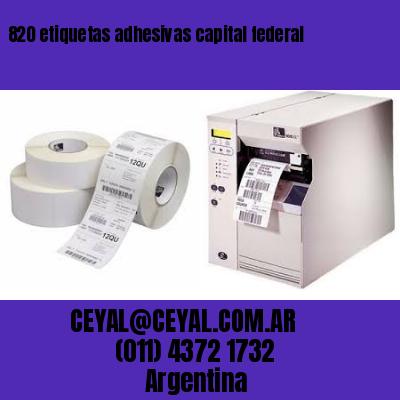 820 etiquetas adhesivas capital federal