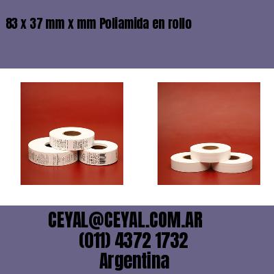 83 x 37 mm x mm Poliamida en rollo