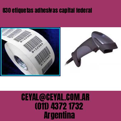 830 etiquetas adhesivas capital federal