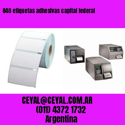 840 etiquetas adhesivas capital federal