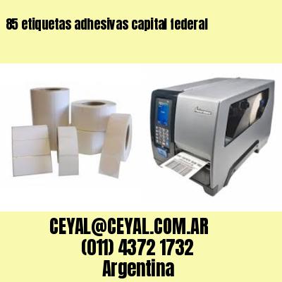85 etiquetas adhesivas capital federal