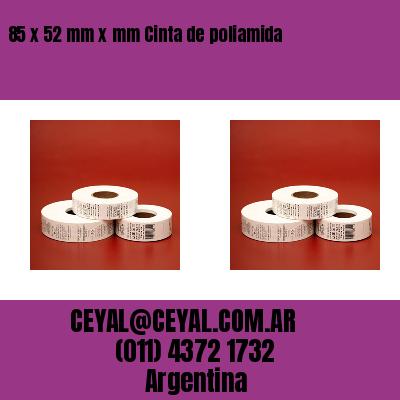 85 x 52 mm x mm Cinta de poliamida