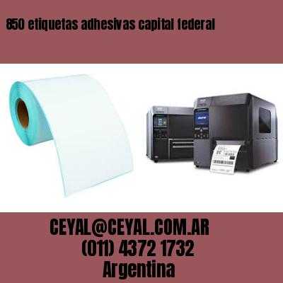 850 etiquetas adhesivas capital federal