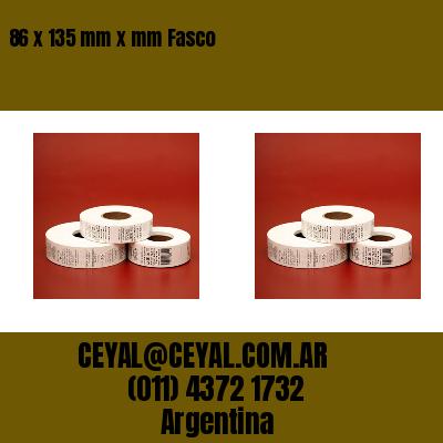 86 x 135 mm x mm Fasco
