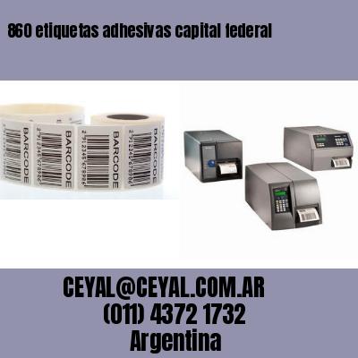 860 etiquetas adhesivas capital federal