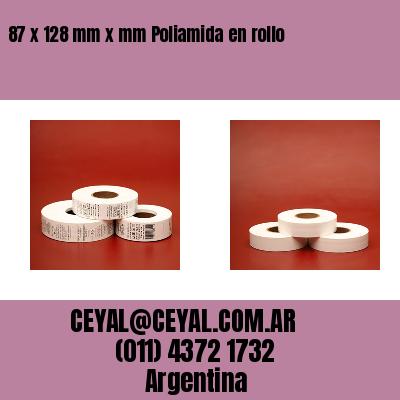 87 x 128 mm x mm Poliamida en rollo