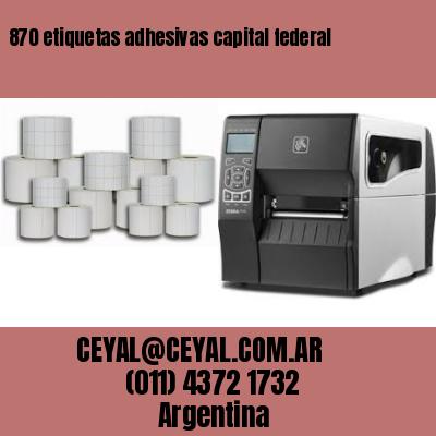 870 etiquetas adhesivas capital federal
