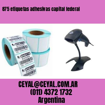 875 etiquetas adhesivas capital federal