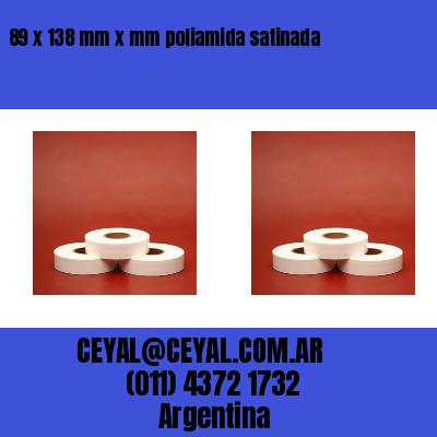 89 x 138 mm x mm poliamida satinada